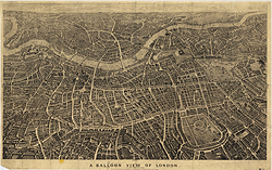 A Balloon View of London, as seen from the north